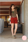 Crimson-topshop-shorts-dark-khaki-miss-sartorial-accessories