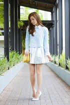 light blue ellysage top
