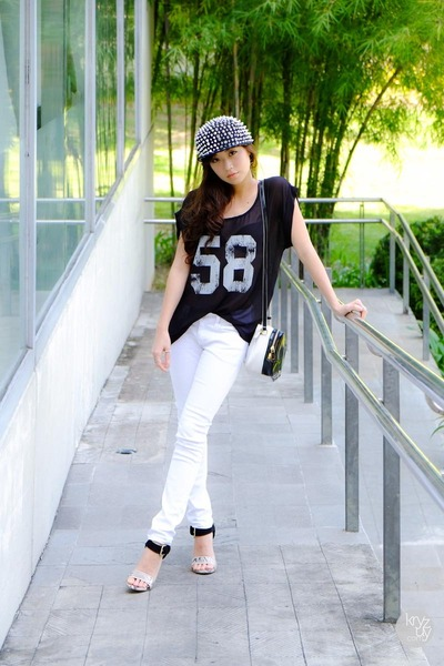 black romwe hat - black romwe top