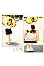 white kaye ongs top - black kaye ongs skirt - gold Rolex accessories - black kay