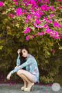 Light-pink-topshop-shorts-eggshell-sheinside-pumps-light-blue-romwe-top