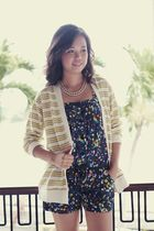 yellow WAGW cardigan - blue WAGW top - silver WAGW accessories