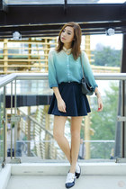 teal romwe top