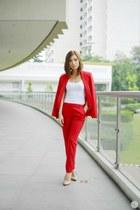 red Zara pants