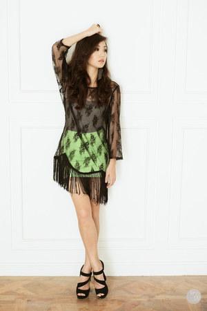 black virgos lounge dress - chartreuse windsor skirt - gray f21 top