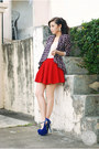 Navy-ellysage-blazer-blue-ffaq-heels-ruby-red-clothes-for-the-goddess-skirt