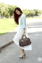 aquamarine ABCD blazer - white clothes for the goddess dress