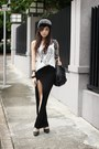 Black-romwe-hat-black-alexander-mcqueen-bag-black-style-staple-skirt