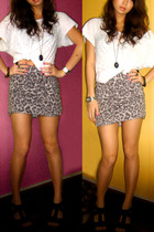 h&m via thrift town shirt - Topshop skirt - H&M necklace - Zara shoes - Kenneth