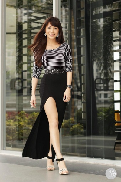 black Style Staple skirt - black WAGW top