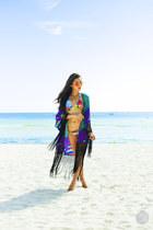 blue Brazilian bikini swimwear