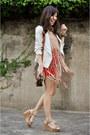 White-forever-21-jacket-dark-brown-louis-vuitton-bag-tan-danika-navarro-top-