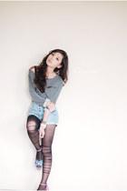 black romwe leggings - heather gray romwe top
