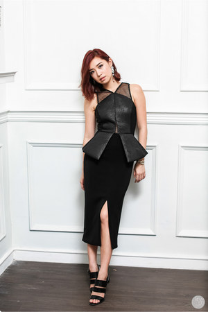 black nicola finetti dress