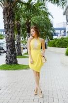 yellow Sheinside dress