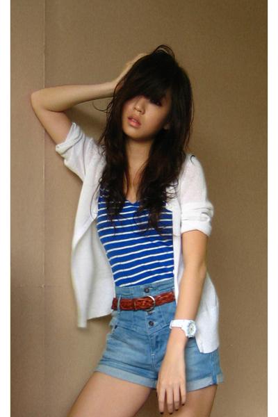 Bayo top - What A Girl Wants t-shirt - What A Girl Wants belt - Topshop shorts -