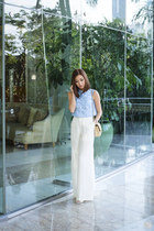 white Alexander Wang heels