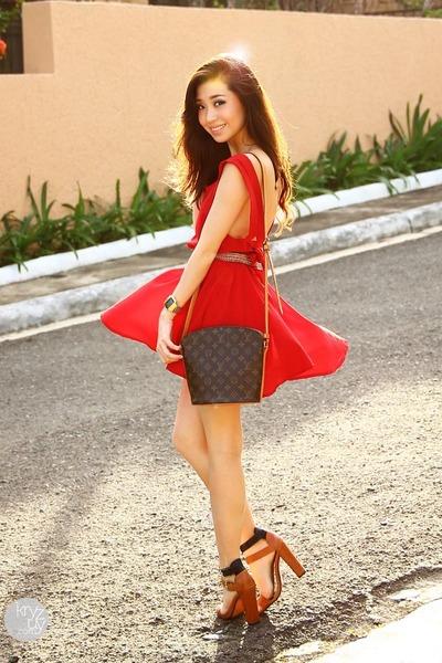 red nouveau brat dress