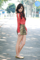 gold Oh my Frock shorts - red WAGW top - gold So FAB flats
