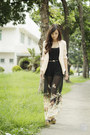 Cream-house-of-eva-cardigan-black-romwe-pants-black-topshop-top