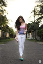 bubble gum Lovelysally top - bubble gum mef bag - white Yesstyle pants