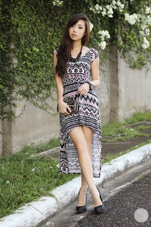 white SM GTW dress - black Call it Spring heels
