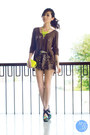 Yellow-call-it-spring-bag-dark-brown-wagw-shorts-dark-brown-wagw-top