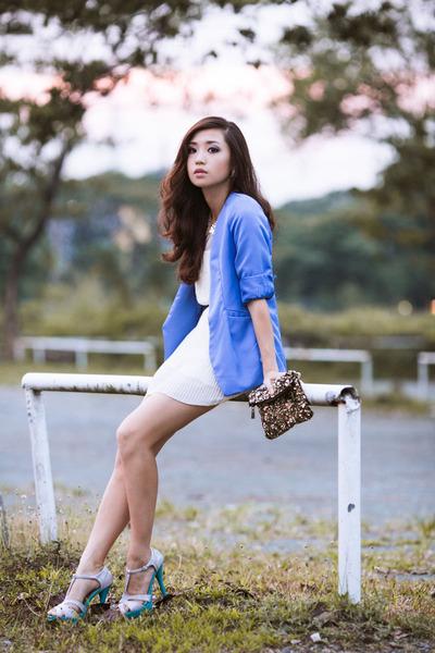 blue clothes for the goddess blazer - white clothes for the goddess dress