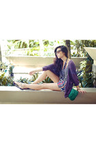 silver island girl sandals - purple ianywear cardigan