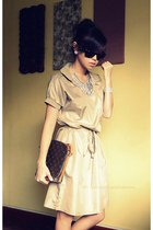 camel wholesale-dressnet dress - dark brown Louis Vuitton bag