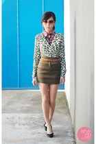 brown WAGW sunglasses - light brown WAGW skirt - black WAGW top