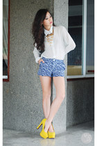 yellow primaluxe manila heels - navy Clothes Off shorts