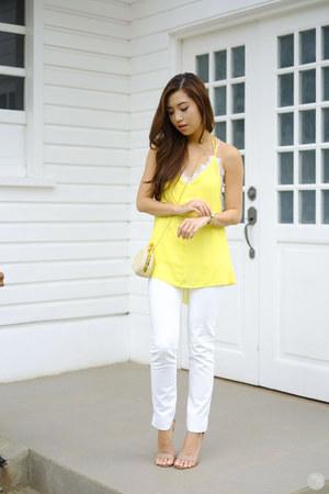 light yellow Sheinside top