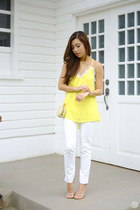 light yellow Sheinside top