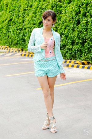 aquamarine windsor blazer - aquamarine Thistle & Co shorts