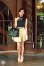 Dark-green-fantasia-top-gold-fantasia-skirt