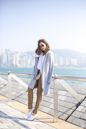 sky blue Tobi coat