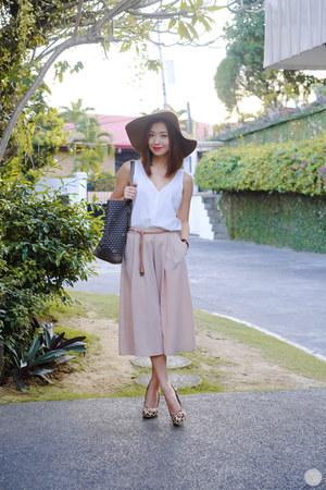 charcoal gray Faure le Page bag - off white gu skirt