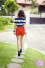 White-aigner-bag-red-trunkshow-shorts-blue-posh-wardrobe-top