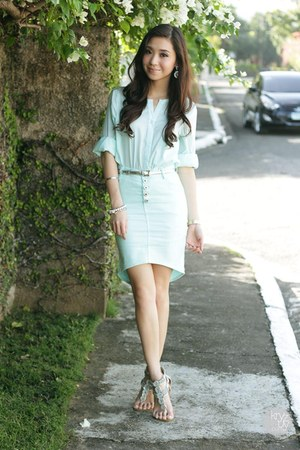 aquamarine WAGW skirt - aquamarine Sheinside top