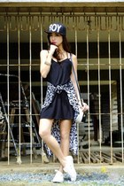 black Blind Clothing dress - black romwe hat