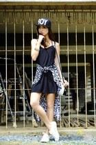 black Blind Clothing dress - black romwe hat