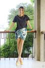 Teal-romwe-skirt