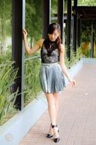 silver romwe skirt