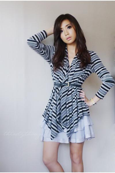 black Forever 21 cardigan - periwinkle Topshop skirt
