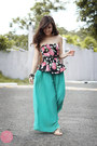Black-runway-dreams-top-aquamarine-cole-vintage-pants