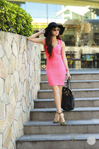 hot pink Topshop dress