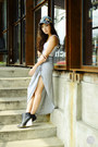 Heather-gray-sheinside-skirt