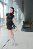 silver Fivebyfive heels