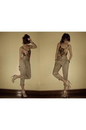 brown RAF pants - brown What A Girl Wants top - beige michael antonio shoes